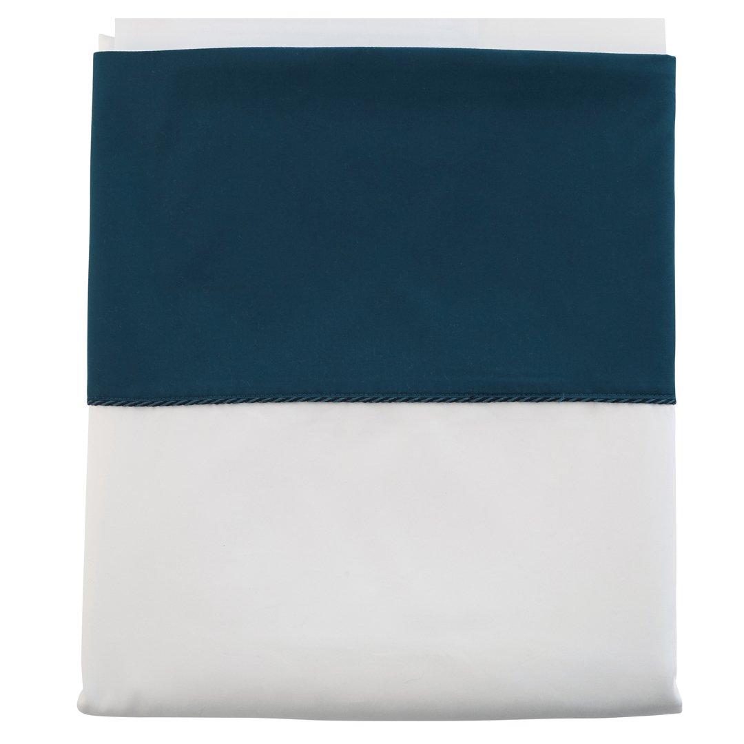 Drap plat Clair Obscur Blanc/bleu