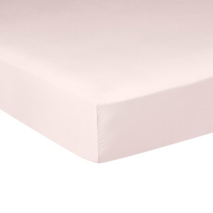 Drap housse PURE WHITE satin lavé nude