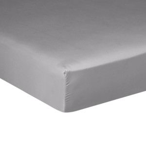 Drap housse PURE WHITE satin lavé stone