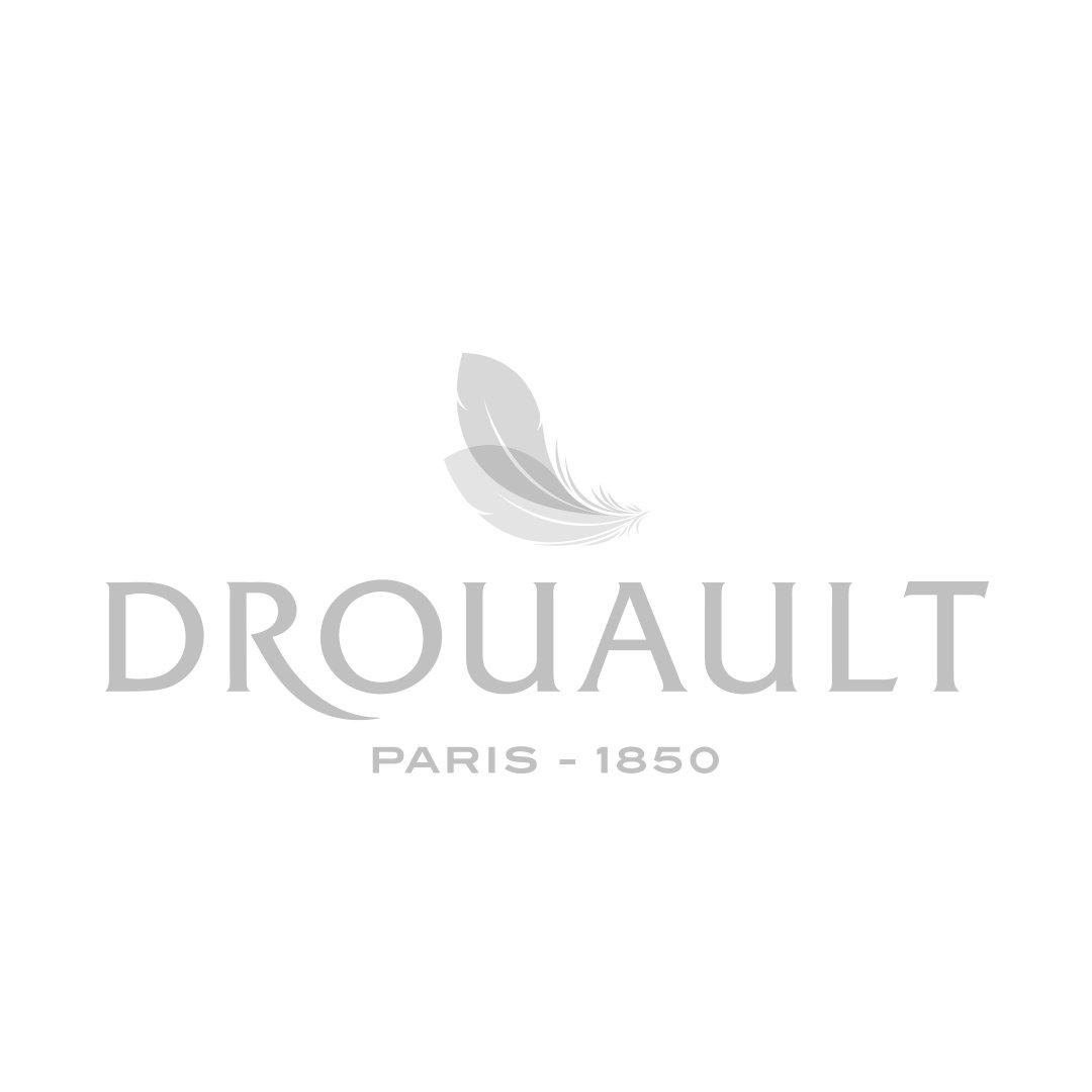 Housse de couette PURE WHITE percale lavée blanc - finition grise claire