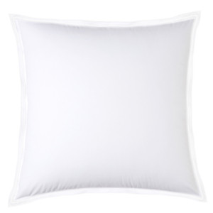 Taie d'oreiller PURE WHITE percale lavée blanc - finition blanche