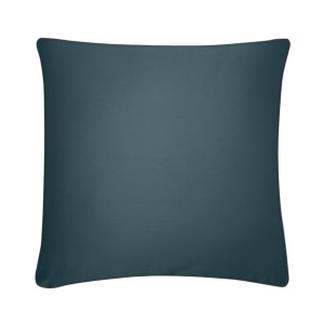 Taie d'oreiller PURE WHITE satin lavé midnight blue - finition black